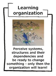 Learning organization picks up and activates