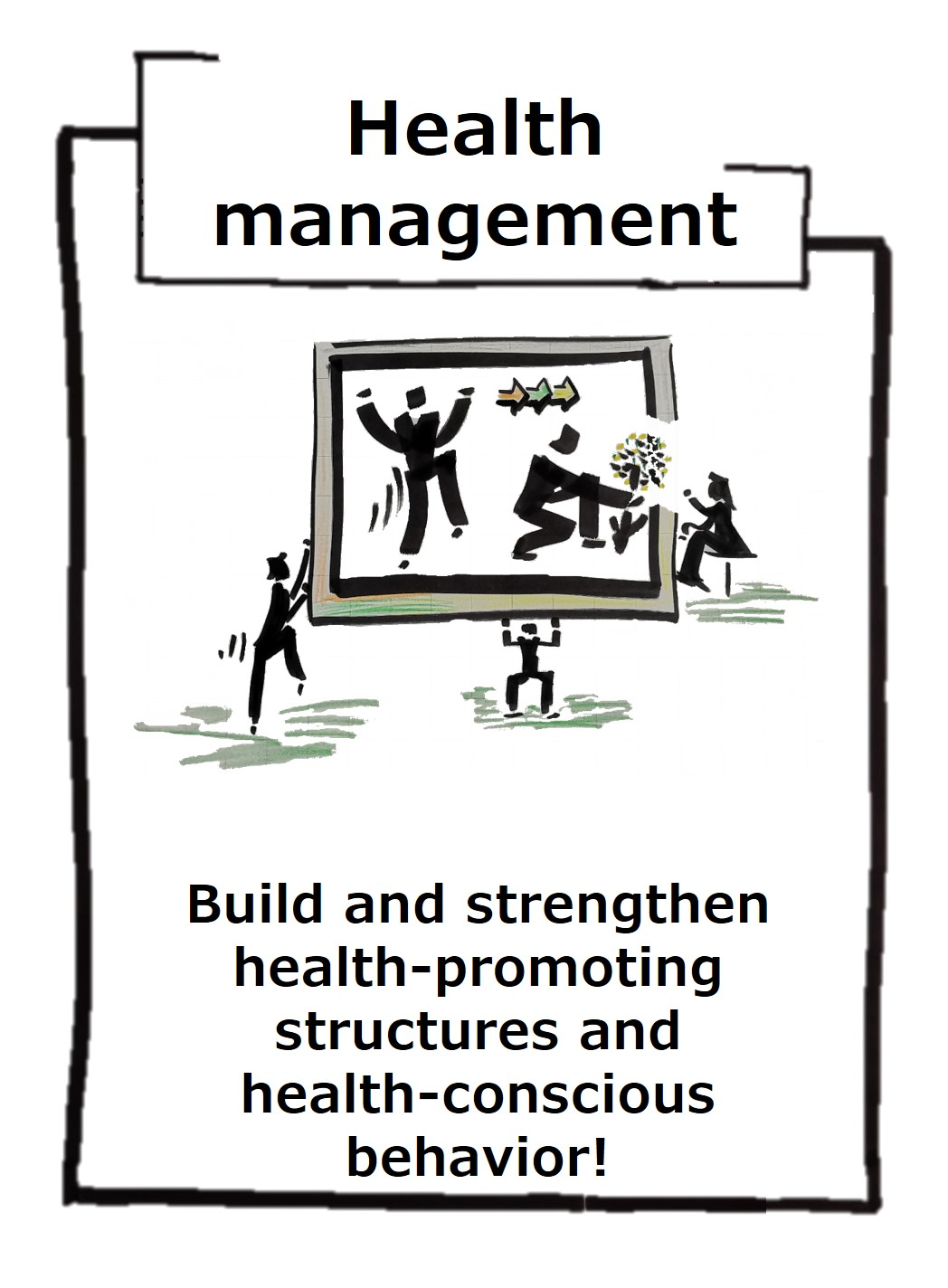 Health management for the physical and mental health of all employees in the company