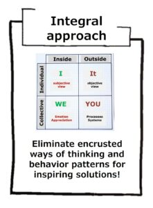 The integral approach is based on holism