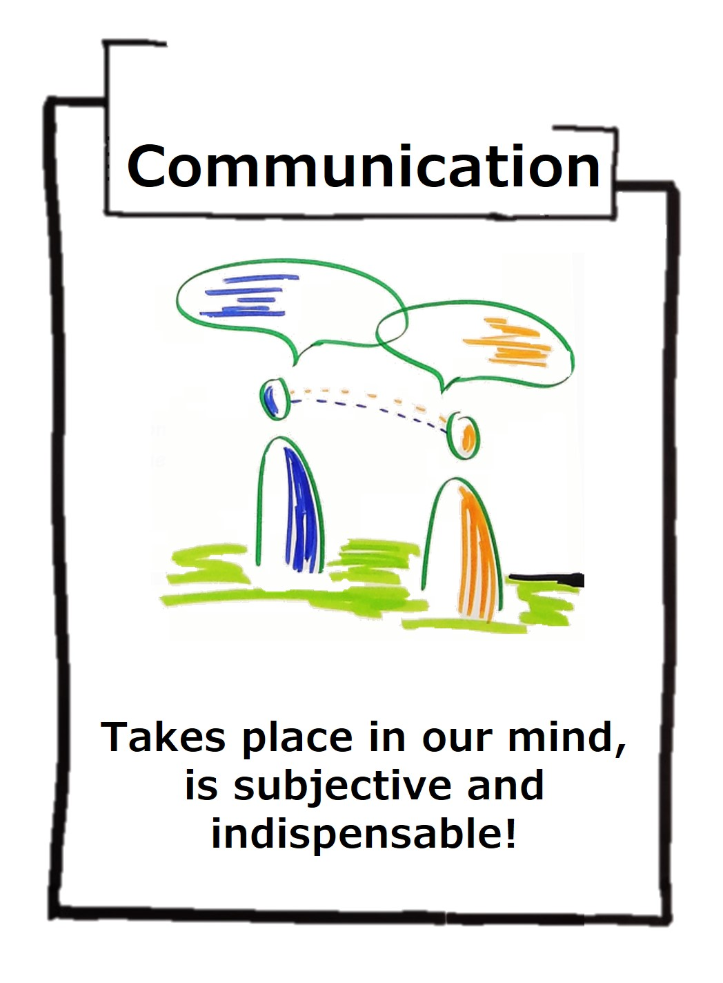 Communication is subjective and takes place in the head - but it is vital and keeps us healthy!