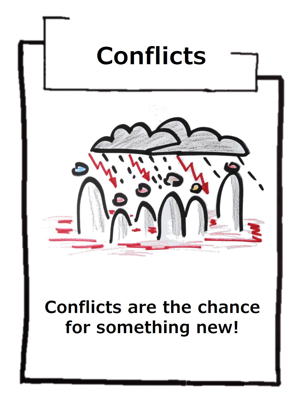 Conflicts are something we don't like - but they are the chance for new perspectives and a happier life