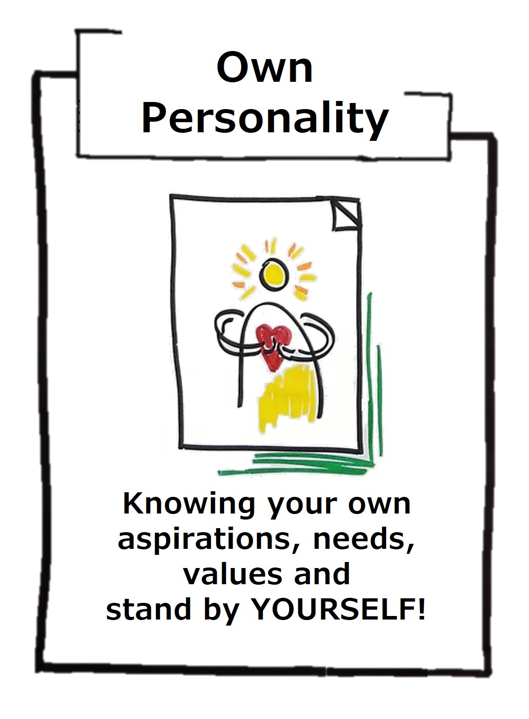 We are born with our own personality, but whether we stand by ourselves only becomes apparent during our lives!
