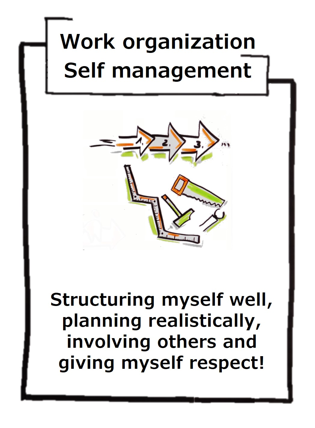 Your own work organization requires good self-management. If I do not have myself under control, my environment is driving me!